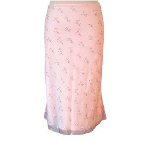 Vintage KOOKAI rose print chiffon overlay skirt